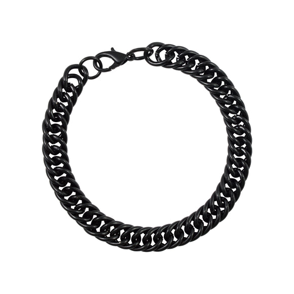 Sarah Metal Cuban Link Mens Bracelet - Black