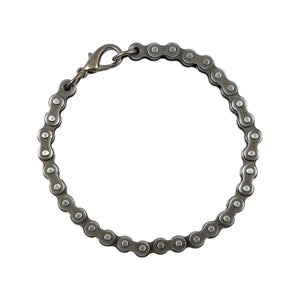 Sarah Metal Bike Chain Mens Bracelet - Metallic