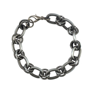 Sarah Metal Interlock Link Chain Mens Bracelet - Metallic
