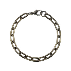 Sarah Metal Link Chain Mens Bracelet - Metallic