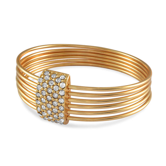 Sarah Rhinestone Multi Layer Bangle for Women