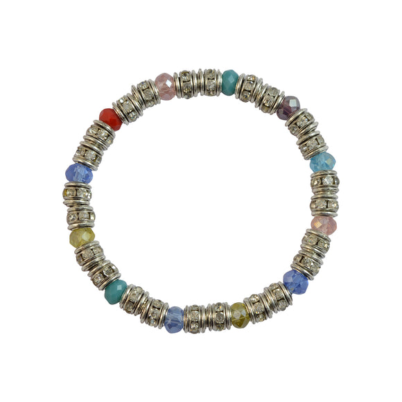 Sarah Beaded Stretch Bracelet for Girls - Multicolor