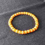 Sarah Beaded Stretch Bracelet for Girls - Orange