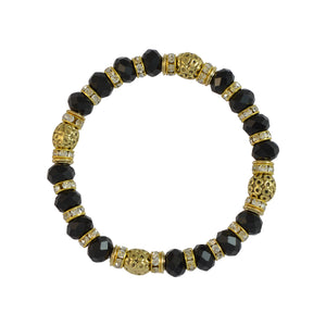 Sarah Beaded Stretch Bracelet for Girls - Black