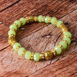 Sarah Beaded Stretch Bracelet for Girls - Green