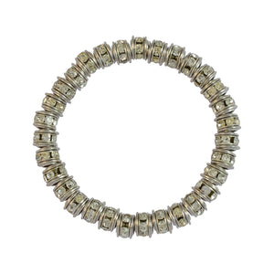 Sarah Beaded Stretch Bracelet for Girls - Silver