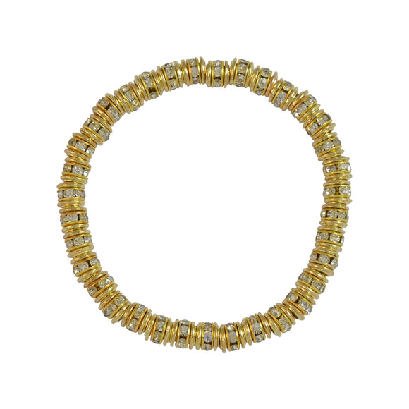 Sarah Beaded Stretch Bracelet for Girls - Gold