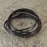 Sarah 9 pc Entangled Gunmetal Partywear Bangles/Cuff/Bracelet for Girls and Women