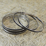 Sarah 6 pc set Stainless Steel Bangles with Black Enamel Finish Partywear Bangles/Cuff/Bracelet for Girls and Women