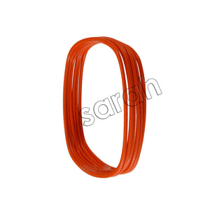 Sarah 6 pc set Square Orange Bangles Partywear Bangles/Cuff/Bracelet for Girls and Women