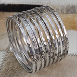 Sarah Stainless Steel Bangles Spring Long Bracelet New Women Fashion Jewelry Accessories