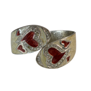 Sarah Broad Enamel Openable Silver Interior Finish Cuff Bracelet Oval Cuff/Kada for Girls and Women