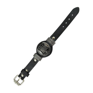 Sarah Punk Style Mens Leather Wristband