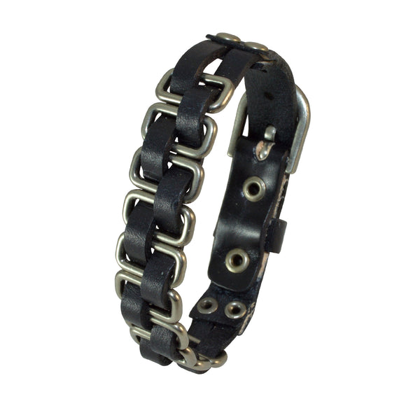 Sarah Hip Hop Alloy Leather Fashionable Adjustable Bracelet for Girls and Boys