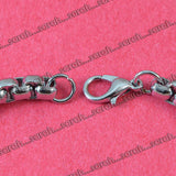 Sarah Rounded Box Chain Bracelet Silver Stainless Steel 5mm Rounded Box Chain Bracelet for Boys & Men