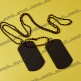 Sarah Plain Pendant Necklace/Dog Tag For Men - Black