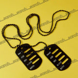 Sarah Military Theme Pendant Necklace/Dog Tag For Men - Black