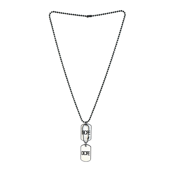 Sarah Lacquered Pendant Necklace/Dog Tag For Men - White