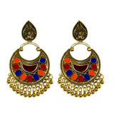 Sarah Fashion Jewellery Bohemian Stylish Multi-Color Fancy Party Wear Earrings for Girls and Women