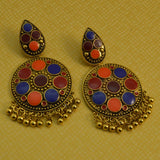 Sarah Jaipur Designer Fusion Chandbali Earrings for Girls Stylish Hanging Earrings for Women