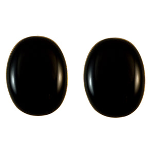 Sarah Golden Finish Oval Fine Enamel Stud Earring For Girls & Women