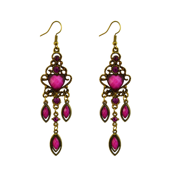 Sarah Vintage Style Ethnic Gold Tone Earrings Festive Jewellery for Girls and Women