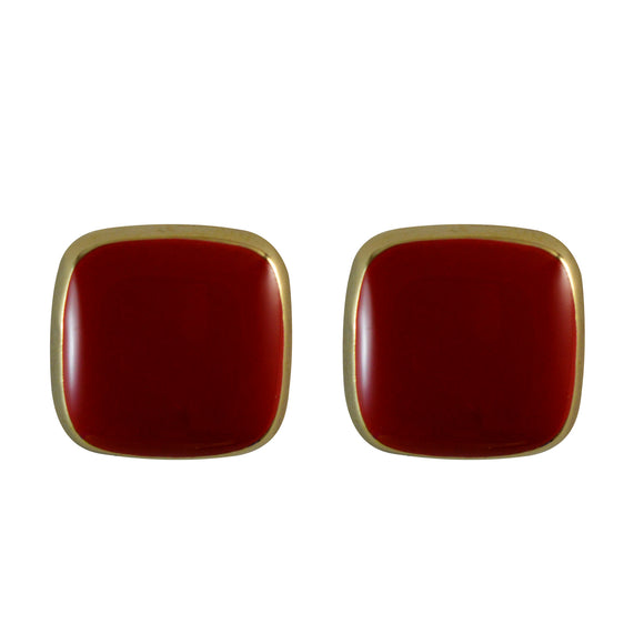Small Square Enamel Earrings for Girls and Women