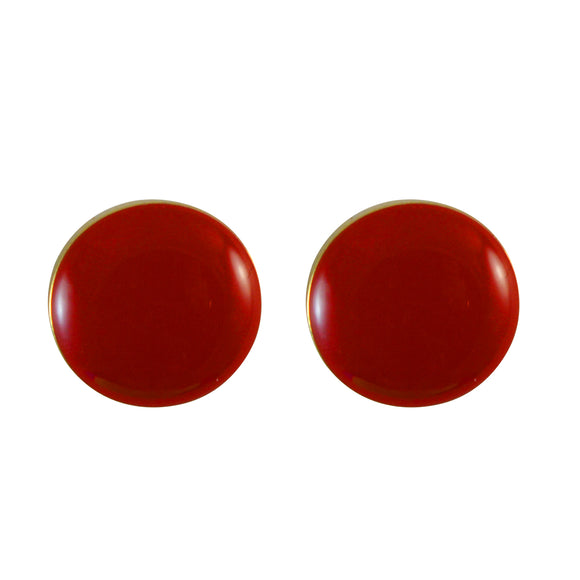 Small Round Enamel Earrings for Girls and Women