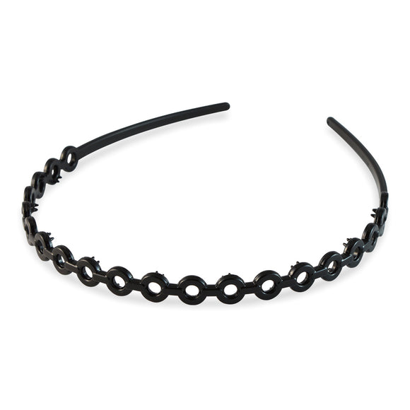 Sarah Black color Plastic Hair Band