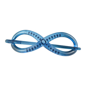 Sarah Infinity Design Hair Clutcher - Hair Claw for Women - Blue
