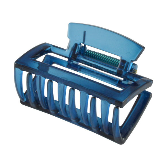 Sarah Rectangle Hair Clutcher - Hair Claw for Women - Blue