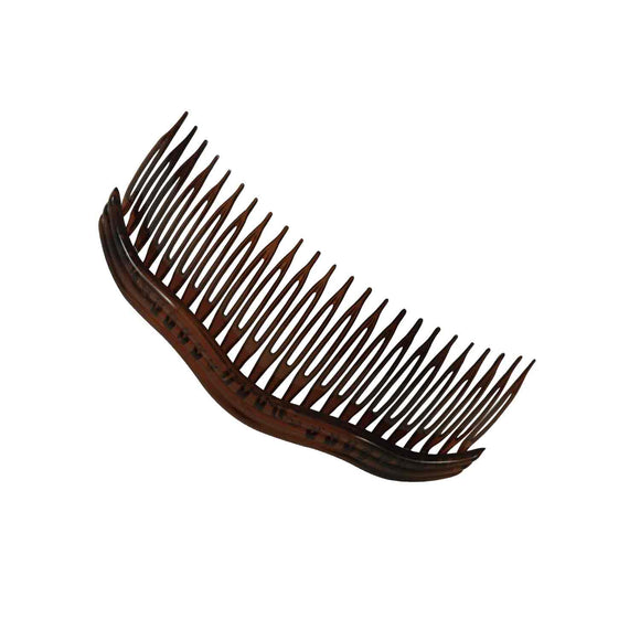 Sarah 24 Teeth Plastic Wavy Design Hair Side Comb