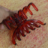 Beautiful Medium Size Red Hair Claw Clip Hair Clutcher for Girls and Women