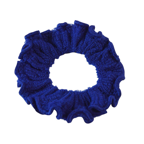 Sarah Blue Women Thick Hair Scrunchies Elastic Hair Rubber Bands Velvet Hair Accessories for Girls and Women