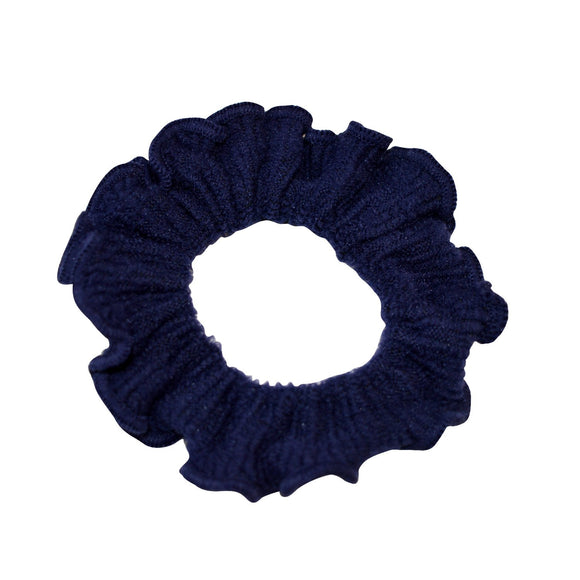 Sarah Dark Blue Women Thick Hair Scrunchies Elastic Hair Rubber Bands Velvet Hair Accessories for Girls and Women