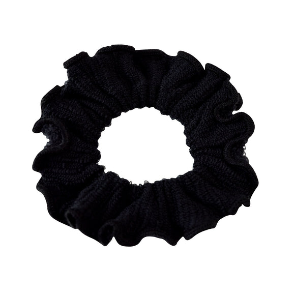 Sarah Black Women Thick Hair Scrunchies Elastic Hair Rubber Bands Velvet Hair Accessories for Girls and Women