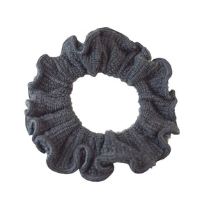 Sarah Grey Women Thick Hair Scrunchies Elastic Hair Rubber Bands Velvet Hair Accessories for Girls and Women