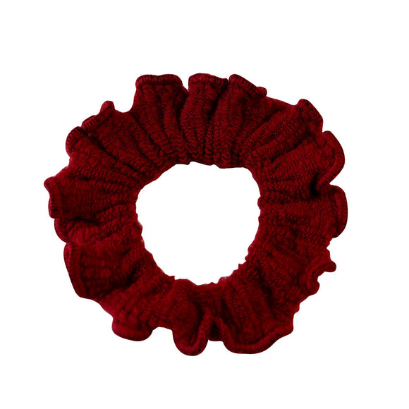 Sarah Red Women Thick Hair Scrunchies Elastic Hair Rubber Bands Velvet Hair Accessories for Girls and Women