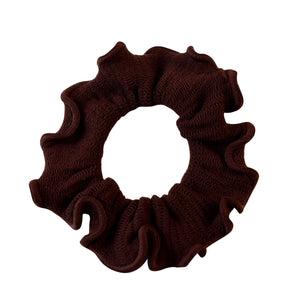 Sarah Chocolate Brown Women Thick Hair Scrunchies Elastic Hair Rubber Bands Velvet Hair Accessories for Girls and Women