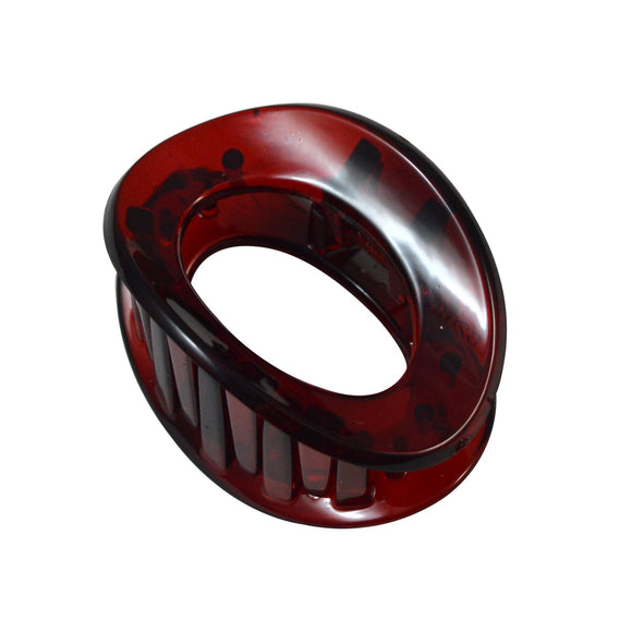 Sarah Red Luxe Oval Cutout Small Claw Clip 4.5cm Claw Clip