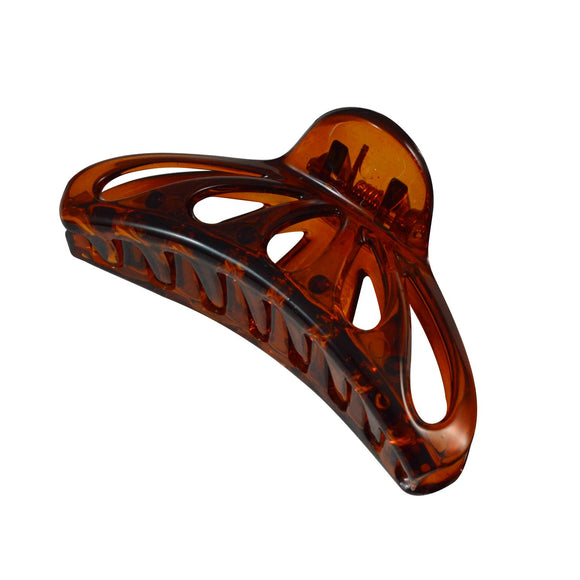 Sarah Brown Medium Size 7 cm Plastic Resin Jaw Claw Hair Clip for Women