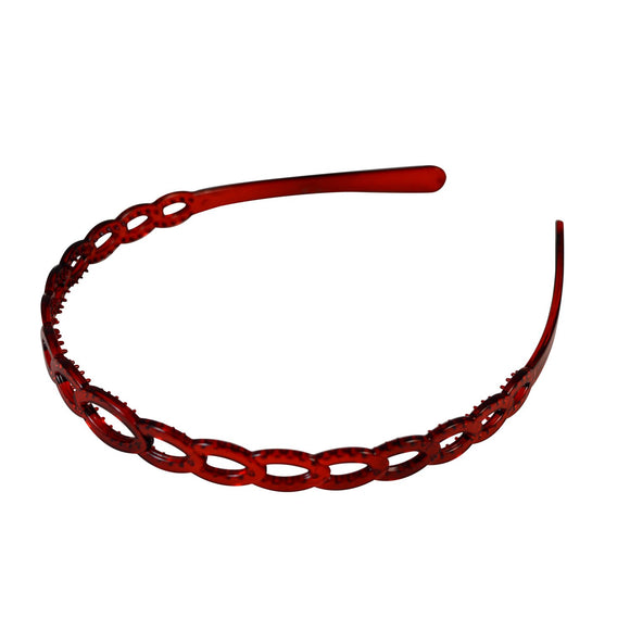 Sarah Red Hair Band for Women Hair Sleek Plastic Hair Band
