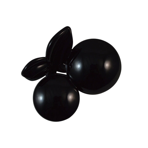 Sarah Black Elegant Small Size 5.5 cm Cherry Shape Hair Claw Clip Hair Clutcher for Girls and Women