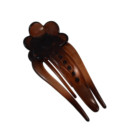 Sarah Coffee Small Size 7 cm Floral Side Claw Clip, Strong Hold for Small Hair for Women