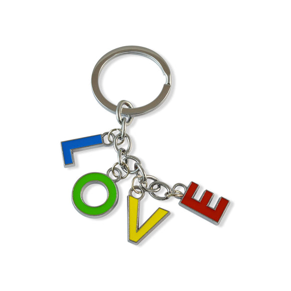 Love Alphabets Multicolor Color Key Chain