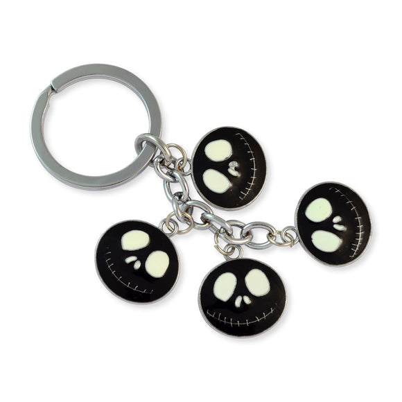 Black Demon Face Silver Color Key Chain by Sarah