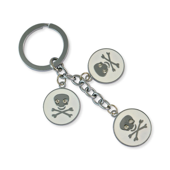 Danger Sign Silver Color Key Chain by Sarah