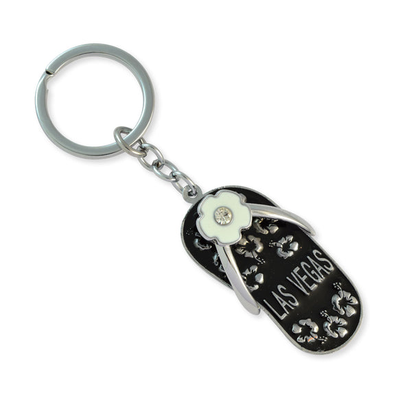 Black Slipper Silver Color Key Chain by Sarah