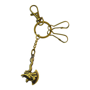 Sarah Dragon Axe Key Chain - Metallic