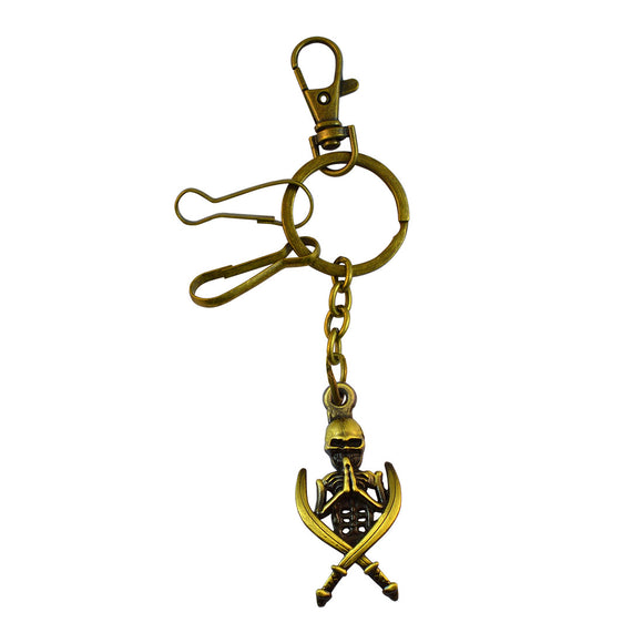 Sarah Skeleton Key Chain - Metallic